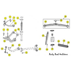 Stock Jeep Liberty Suspension Components